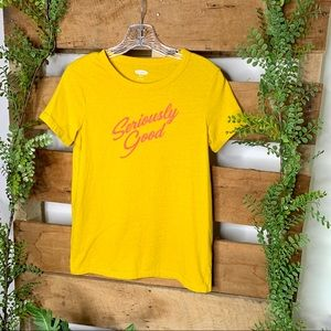Old Navy | Yellow Seriously Good Tee